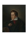 Portrait of the Poet Heinrich Heine (1797-185) Giclee Print by Moritz Daniel Oppenheim