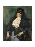 The Black Mask Giclee Print by Lovis Corinth