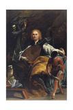 Portrait of Count Fulvio Grati Giclée-tryk af Giuseppe Maria Crespi