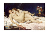 Gustave Courbet - The Sleepers (Le Sommei) - Giclee Baskı