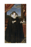 Portrait of Queen Elisabeth of France (1602-164), Queen Consort of Spain Giclee Print by Frans Francken the Younger