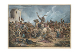 Battle Between the Georgians and Mountain Tribes Giclee Print by Alexander Osipovich Orlowski
