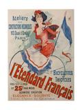 L'Etendard Français Bicycles Giclee Print by Jules Chéret