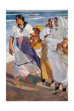 Fisherwomen from Valencia Giclee Print by Joaquín Sorolla y Bastida