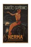 Egyptian Cigarettes Nerma, 1924 Giclee Print by Gaspar Camps