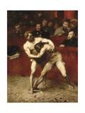 Wrestlers Giclee Print by Alexandre Falguière
