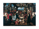 The Adoration of the Christ Child with the Boelen Family Giclee Print by Jacob Cornelisz van Oostsanen