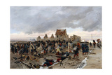 Bivouac at Le Bourget Giclee Print by Alphonse Marie de Neuville