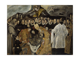 The Burial of the Count of Orgaz (Lower Par), Ca 1625 Giclee Print by  El Greco