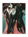 Street, Berlin Giclee Print by Ernst Ludwig Kirchner