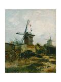 Windmills on Montmartre Giclee Print