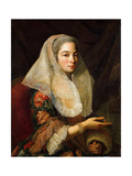 Portrait of a Young Maltese Lady Giclee Print by Antoine de Favray