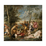 The Bacchanal of the Andrians Giclee Print by Pieter Paul Rubens