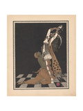 Ida Rubinstein and Vaslav Nijinsky in the Ballet Scheharazade Giclée-tryk af George Barbier