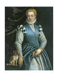 Portrait of a Woman with a Dog Giclee Print by Paolo Veronese