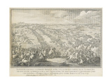The Battle of Poltava on 27 June 1709 Giclee Print by Nicolas de Larmessin