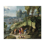 The Stoning of Saint Stephen Giclee Print by Battista Dossi