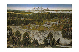 Hunt in Honour of Emperor Ferdinand I at Torgau Castle Giclee Print by Lucas Cranach the Elder