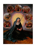 The Virgin of the Seven Sorrows Lámina giclée
