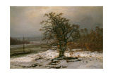 Oak Tree by the Elbe in Winter Giclee Print by Johan Christian Clausen Dahl