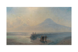 The Descent of Noah from Mount Ararat Wydruk giclee autor Ivan Konstantinovich Aivazovsky