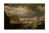 Shipwreck on the Norwegian Coast Giclee Print by Johan Christian Clausen Dahl
