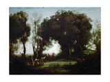 The Dance of the Nymphs Giclee Print by Jean-Baptiste Camille Corot