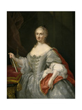 Maria Amalia of Saxony (1724176), Queen of Naples Giclee Print by Giuseppe Bonito