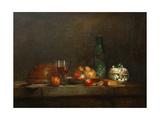 A Bowl of Olives Giclee Print by Jean-Baptiste Siméon Chardin