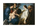 The Mystical Marriage of Saint Catherine Giclee Print by Anthonis van Dyck