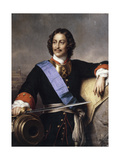 Portrait of Emperor Peter I the Great (1672-172) Giclee Print by Paul Hippolyte Delaroche