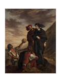 Hamlet and Horatio in the Graveyard Reproduction procédé giclée par Eugène Delacroix