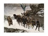 Bringing Home the Body of King Charles XII of Sweden Giclée-tryk af Gustaf Cederström