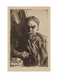 Portrait of the Poet Paul Verlaine (1844-189), 1895 Giclee Print by Anders Leonard Zorn