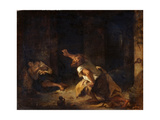 The Prisoner of Chillon Giclee Print by Eugène Delacroix