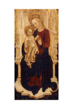 The Virgin and Child Enthroned Giclee Print by Cristoforo Moretti