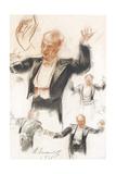 Serge Koussevitzky Conducting Giclee Print by Alexander Yevgenyevich Yakovlev