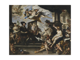 Rubens Painting the Allegory of Peace Giclee Print by Luca Giordano