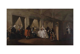 The Parlor of the Nuns at San Zaccaria Giclee Print by Francesco Guardi