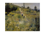 Path Leading Through Tall Grass Giclee Print by Pierre-Auguste Renoir