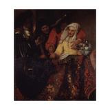 The Procuress, 1656 Giclee Print by Jan Vermeer