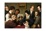 The Schadow Circle (The Bendemann Family and their Friend) Giclee Print by Eduard Bendemann