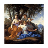 The Muses Clio, Euterpe, and Thalia Giclee Print by Eustache Le Sueur