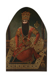 Portrait of Fath Ali Shah (1797-183) Giclee Print by Mirza Baba
