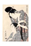 Hairdresser (Kamiyu), C. 1798 Giclee Print by Kitagawa Utamaro