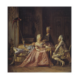 Scene from the Court of Christian VII Giclee Print by Kristian Zahrtmann