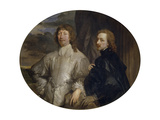 Sir Endymion Porter and Sir Anthony Van Dyck Giclee Print by Anthonis van Dyck