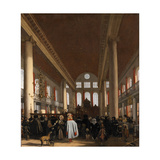 Interior of the Portuguese Synagogue in Amsterdam Giclee Print by Emanuel de Witte