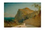 Rock of Tiberius, Capri Giclee Print by Carl Blechen