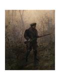 Hunter in the Forest Giclee Print by Ivan Pavlovich Pokhitonov
